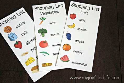 preschool shopping list printable 32 free pretend play printables kindergarten language