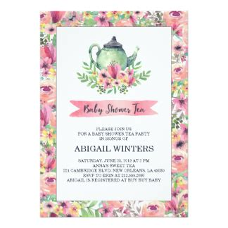 Tea Baby Shower Invitations by Tea Baby Shower Invitations Announcements Zazzle