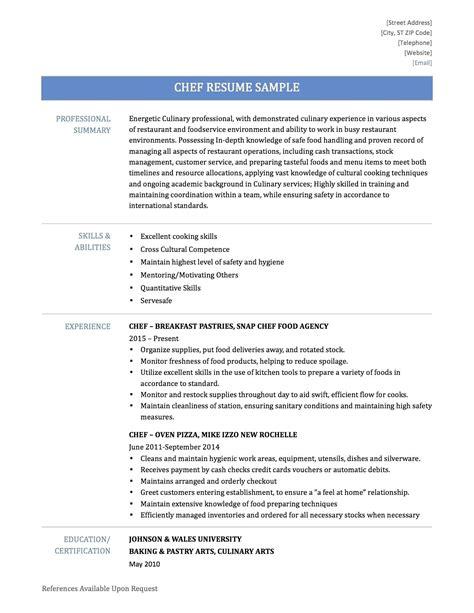 download sous chef resume sample diplomatic regatta
