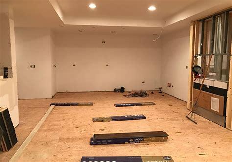 basement sub flooring options basement subfloor options dricore versus plywood home remodeling contractors sebring design