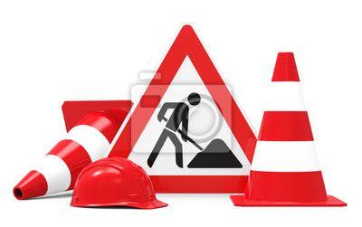 Baustellenschild Laminieren by Baustelle Baustellenschild Mit Pylonen Und