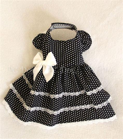 Black White Dot Dress W8179uzi D black and white dot dress roupas de