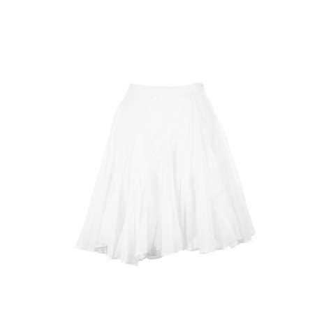 hussein chalayan white cotton voile high waisted pleated