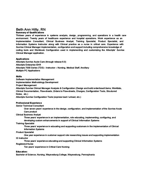 sle summary of qualifications template free