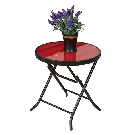 Folding Patio Side Table 18 Quot Patio Folding Side Table Captiva Design Target