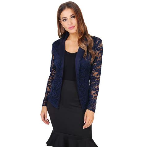 Lace Blazer womens vintage lace blazer jacket cardigan shrug
