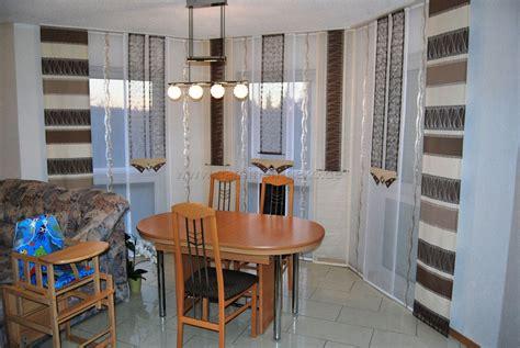 Fenster Dekorieren Ideen 3103 by Braun Beige Schiebegardine In Eckform F 252 Rs Wohnzimmer