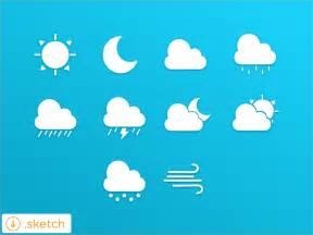 Small Desktop Weather App Weather Icon Set For Sketch App Sketch Freebie