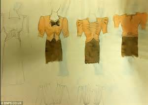 sketchbook of fashion designs that young mary quant threw