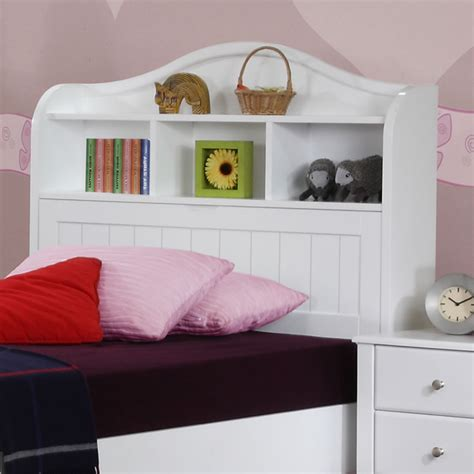 childrens headboards for single beds alexia children s white storage bed the children s