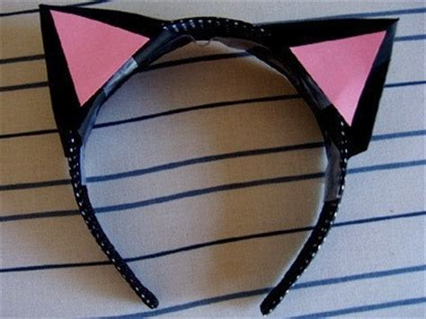 How To Make Cat Ears With Paper - 3d paper cat ears 183 how to make an ear horn 183 sewing on