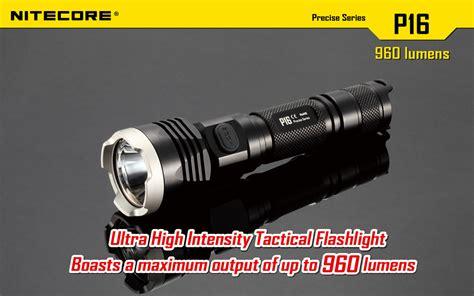 Nitecore P16 Tac Senter Tactical Led Cree Xm L2 U3 1000 Lumens nitecore p16 960 lumen cree xm l2 tactical led torch liteshop au