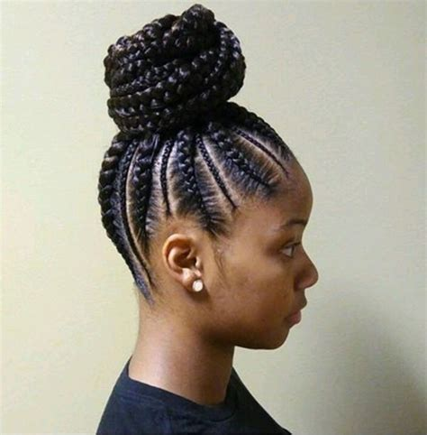 braided styles to the scalp with a bun 79 gorgeous feed in braid hairstyles to choose from