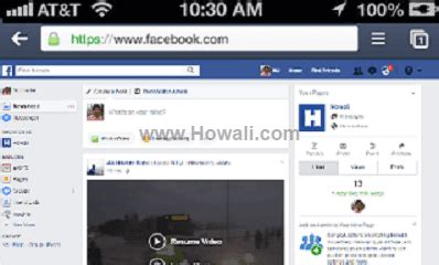 how to open full version of facebook on iphone how to open facebook fb full site desktop version on