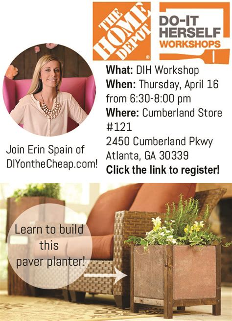 the home depot dih workshops erin spain