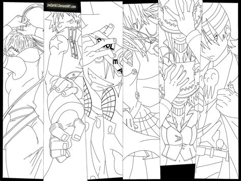 Soul Eater Coloring Pages Death The Kid