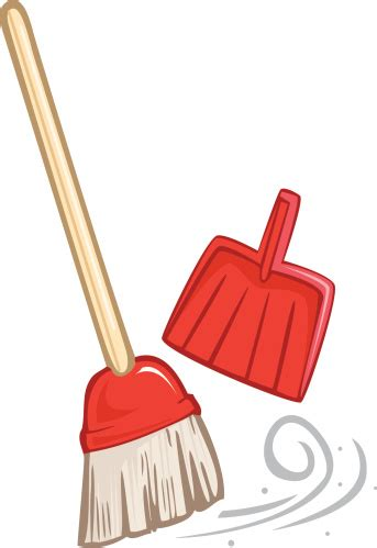 Broom And Dustpan Clipart broom clipart clipground