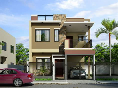 Home Design 3d Two Storey by Modern 2 Storey Home Design With Sleek Exterior Painting
