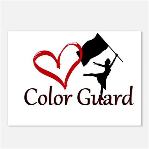 color guard color guard postcards color guard post card design template