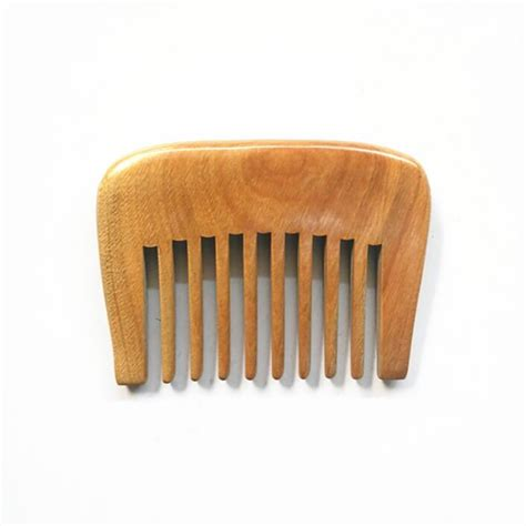 Handmade Wooden Combs - handmade wooden comb tooth green sandalwood no static