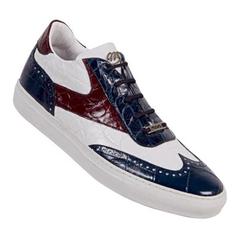 alligator sneakers mauri sire 8896 alligator sneakers white ruby