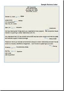 business letter closings the best letter sle