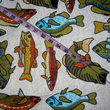 Fishing Quilt Fabric by Flannel Fabric With Fish Fishing Perch From Connie S Quilt
