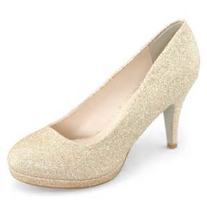 dress womens glitter gold heels platform pumps