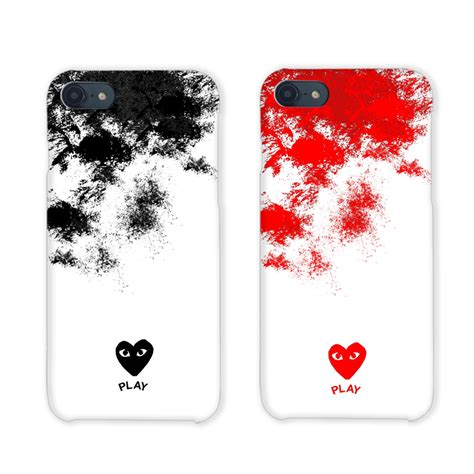 Iphone Cdg With Box high quality comme des garcons for iphone 6 s 6s plus 7 7plus 8 8plus cdg play cover