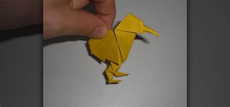 Intermediate Origami - how to make an adorable origami kiwi for intermediate