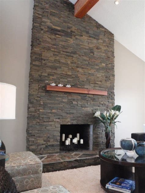 stacked stone fireplace ideas stacked stone fireplace living room fireplaces pinterest