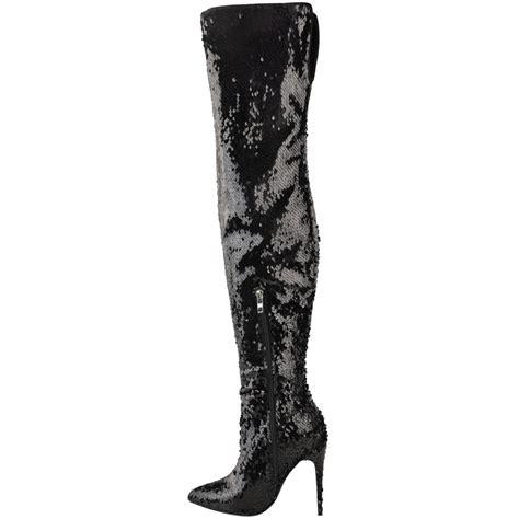 womens sparkle sequin metallic the knee