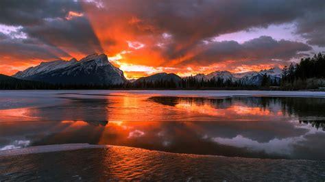 Sle Foto Gluta Frozen Original nature landscape mountain canada alberta snow winter