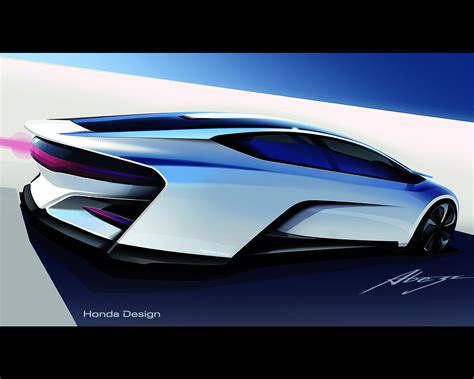 design concept review honda fcv hydrogen fuel cell vehicle design study for 2015