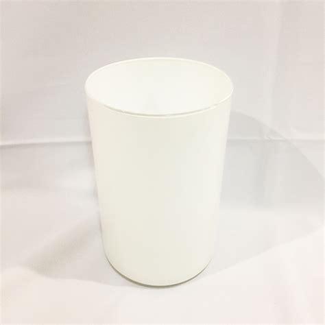clarisse white cylinder vase rental vintagebash