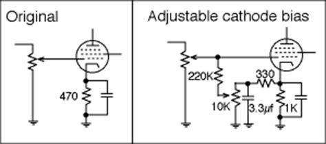 fixed bias cathode resistor adjustable cathode bias s build repair modify