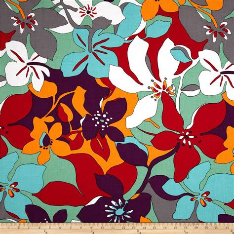 bright floral upholstery fabric large floral bright discount designer fabric fabric com