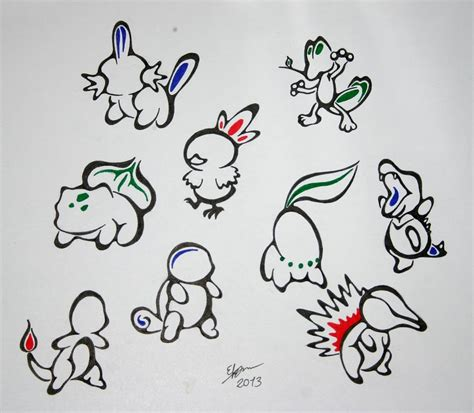 9 tribal pokemons by esmeekramer on deviantart