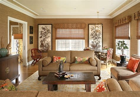asian inspired living room 20 living rooms with textural beauty of grasscloth best