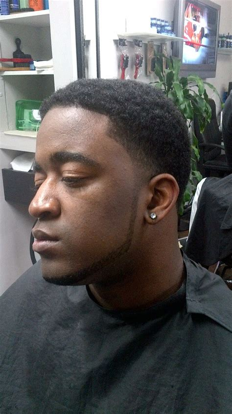 men taper on the sides with beard afro taper fade with beard lining men