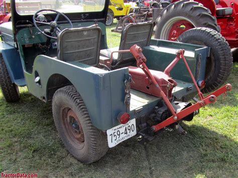 Jeep Pto Tractordata Jeep Cj 3b Tractor Photos Information