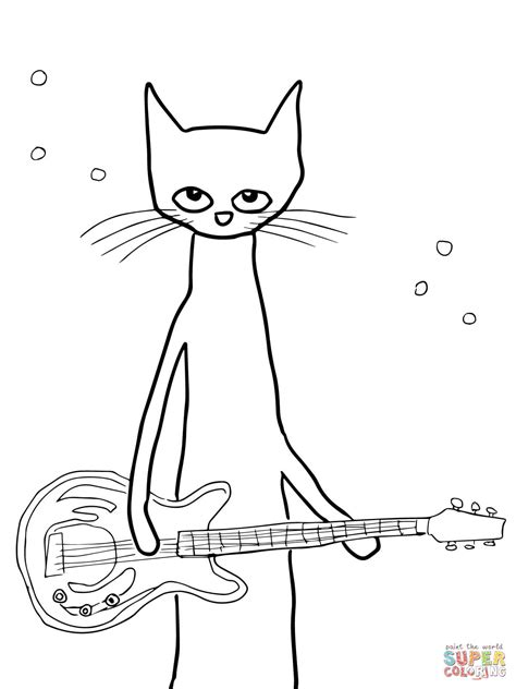 pete  cat coloring page  printable coloring pages