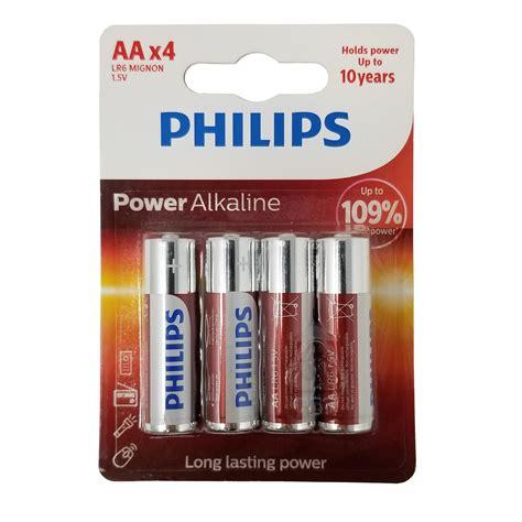Philips Alkaline Aa Bp2 Berkualitas 4 philips aa batteries lr6 1 5v power alkaline lasting a battery