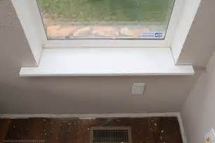 Replacing Window Sill And Trim Interior Window Sill Goenoeng