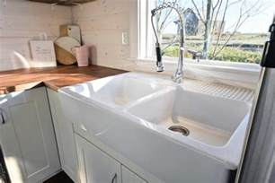 big sinks for kitchens tiny house on wheels w big kitchen and sink vanity