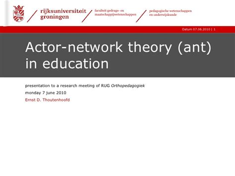 actor network theory and special needs education