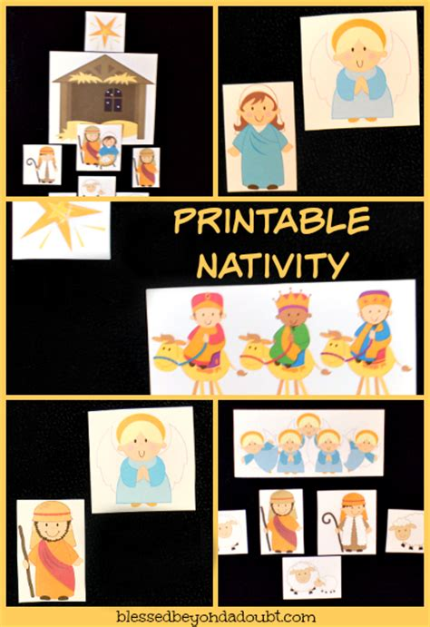 printable children s nativity story free printable nativity story set