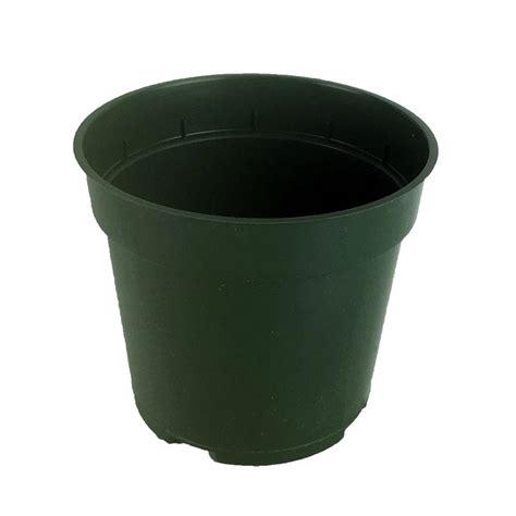 4 quot green plastic planter