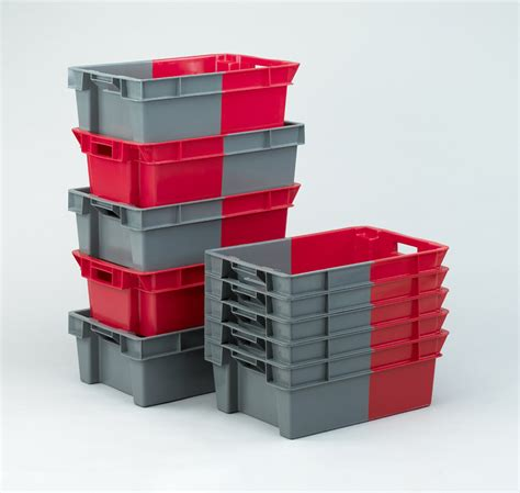 nesting storage containers ref 11051 180 degree stacking and nesting