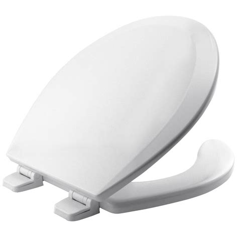 open front toilet seat white lid cover bath